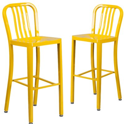 Fairmount 30 Bar Stool Finish: Yellow