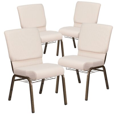 MacArthur Contemporary Guest chair with Fabric Seat Seat Finish: Beige