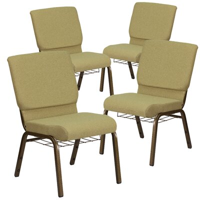 MacArthur Contemporary Guest chair with Fabric Seat Seat Finish: Green