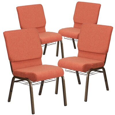 MacArthur Contemporary Guest chair with Fabric Seat Seat Finish: Cinnamon