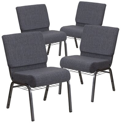 MacArthur Modern Guest chair with Fabric Seat Seat Finish: Dark Gray