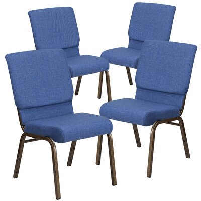 MacArthur Guest chair with Fabric Seat Seat Finish: Blue