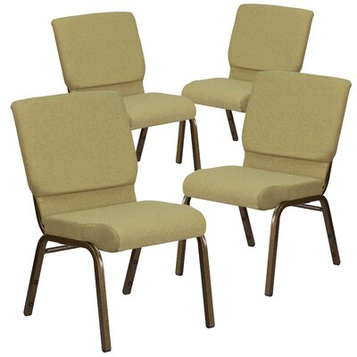 MacArthur Guest chair with Fabric Seat Seat Finish: Green