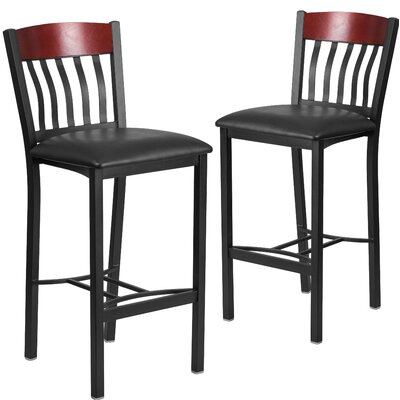 Ringel Contemporary Bar Stool Finish: Mahogany