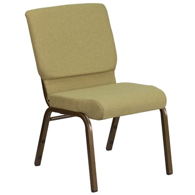 MacArthur Contemporary Guest Chair Seat Finish: Moss Green, Finish: Gold Vein