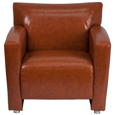 Pyron Leather Lounge Chair Upholstery: Cognac