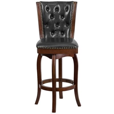 30 Swivel Bar Stool Upholstery: Cappuccino
