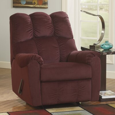 Ly Manual Rocker Recliner Upholstery: Burgundy
