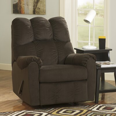 Ly Manual Rocker Recliner Upholstery: Chocolate