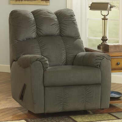 Ly Manual Rocker Recliner Upholstery: Moss