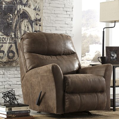 Sumeet Manual Rocker Recliner Upholstery: Coffee