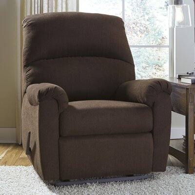 Junhee Manual Wall Hugger Recliner Upholstery: Java
