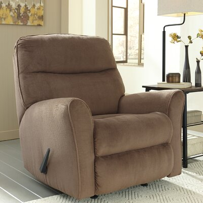 Savas Manual Rocker Recliner Upholstery: Cocoa