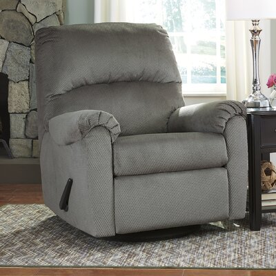 Krystn Manual Swivel Recliner Upholstery: Alloy