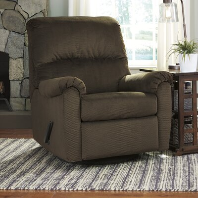 Krystn Manual Swivel Recliner Upholstery: Cocoa