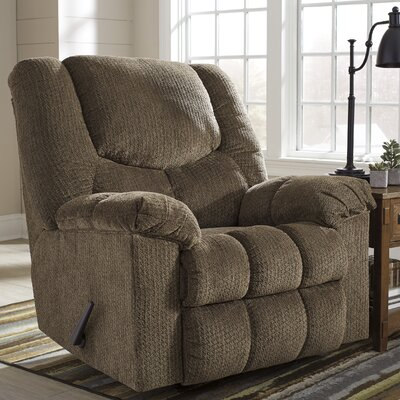 Adama Manual Rocker Recliner Upholstery: Brownstone