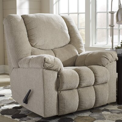 Adama Manual Rocker Recliner Upholstery: Putty