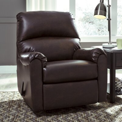 Angelinea Manual Rocker Recliner Upholstery: Burgundy