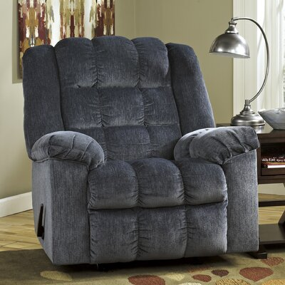 Lenora Manual Rocker Recliner Upholstery: Blue