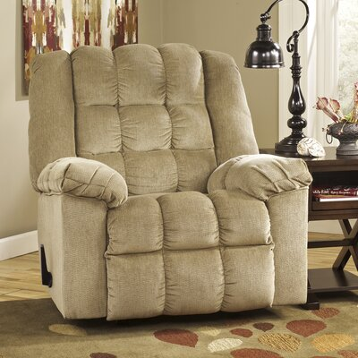 Lenora Manual Rocker Recliner Upholstery: Sand