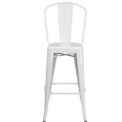 30.25 Bar Stool Finish: White