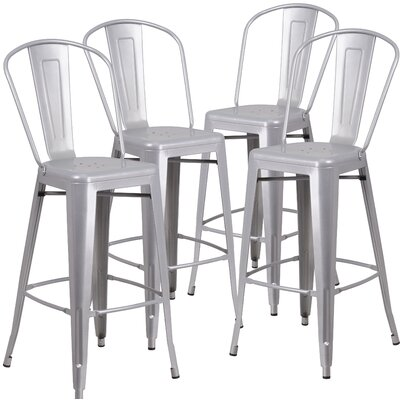 Siping 30.25 Bar Stool Finish: Silver