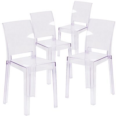 Ghost Side Chair with Square Back