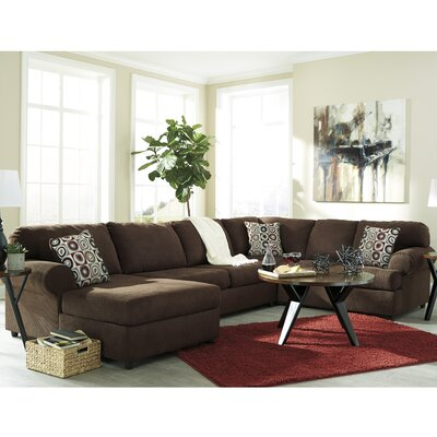 Jayceon Reversible Sectional Upholstery: Java, Orientation: Right Hand Facing