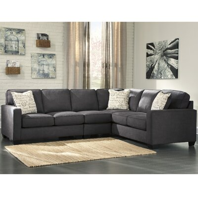 Alenya Sectional Upholstery: Charcoal, Orientation: Right Hand Facing