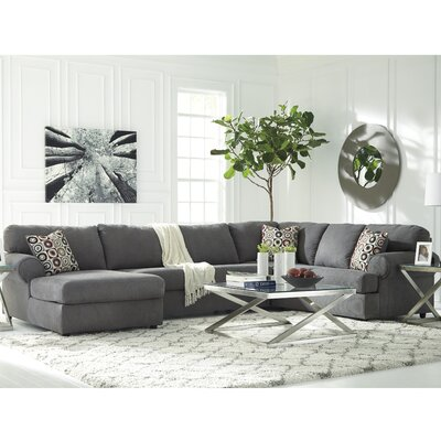 Jayceon Reversible Sectional Upholstery: Steel, Orientation: Right Hand Facing