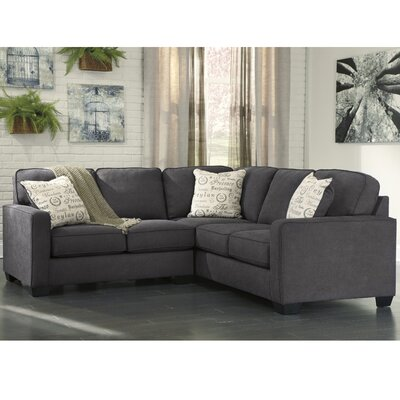 Phinnaeus Contemporary Sectional Upholstery: Charcoal