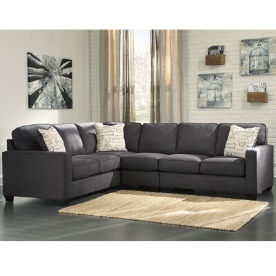 Phinnaeus Sectional Upholstery: Charcoal, Orientation: Left Hand Facing