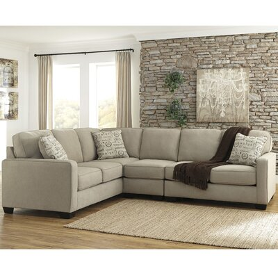 Phinnaeus Sectional Upholstery: Quartz, Orientation: Left Hand Facing