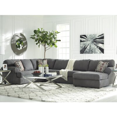 Jayceon Reversible Sectional Orientation: Left Hand Facing, Upholstery: Steel