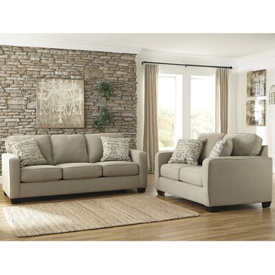 Phinnaeus 2 Piece Living Room Set Upholstery: Quartz