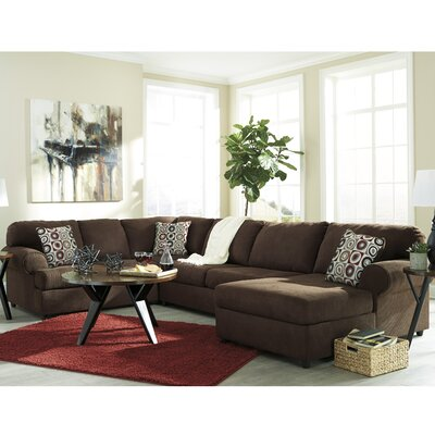 Jayceon Reversible Sectional Upholstery: Java, Orientation: Left Hand Facing