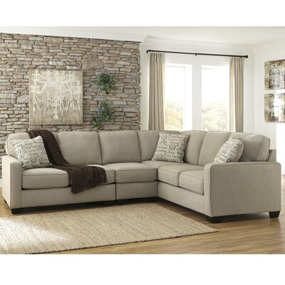 Phinnaeus Sectional Upholstery: Quartz, Orientation: Right Hand Facing