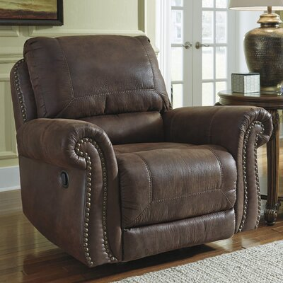 Lenny Manual Rocker Recliner Upholstery: Espresso