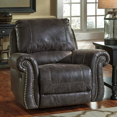 Lenny Manual Rocker Recliner Upholstery: Charcoal