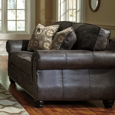Lenny Loveseat Upholstery: Charcoal