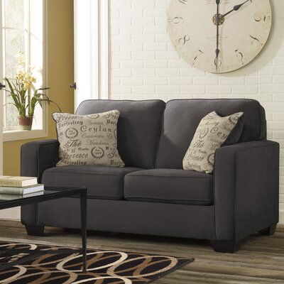 Alenya Loveseat Upholstery: Charcoal