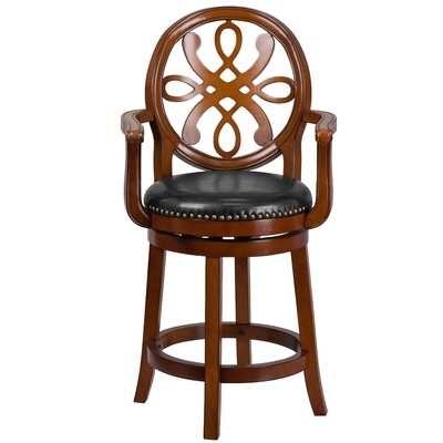 Paradis Wood 26 Swivel Bar Stool