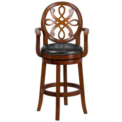 Fatum Wood 30 Swivel Bar Stool Color: Brandy