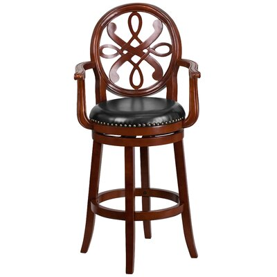 Fatum Wood 30 Swivel Bar Stool Finish: Cherry