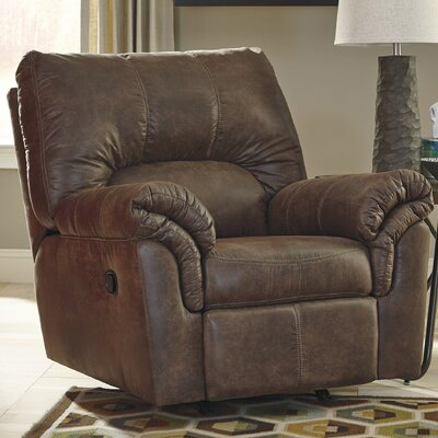 Baltierra Manual Rocker Recliner Upholstery: Coffee