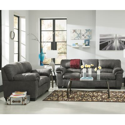 Baltierra 2 Piece Living Room Set Upholstery: Slate