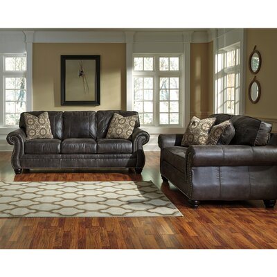 Lenny 2 Piece Living Room Set Upholstery: Charcoal