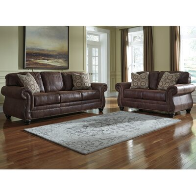 Lenny 2 Piece Living Room Set Upholstery: Espresso