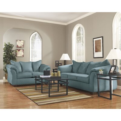 Parthena 2 Piece Living Room Set