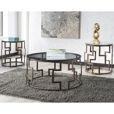 Merlene 3 Piece Coffee Table Set